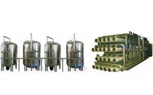 Hệ thống dây chuyền lọc nước RO Inox 90000 lít/h - Van cơ