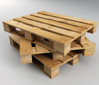 Wooden pallet 4 dimensional shade used in cold storage