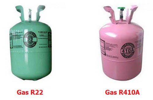 Gas R410A R22 can change