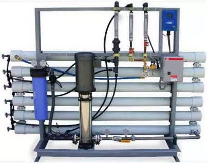 Water filter system for electroplating industry