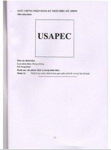 Giấy chứng nhận thương hiệu USApec